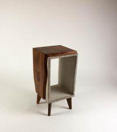 Concrete & Live Edge Black Walnut Side Table with Legs Handmade Table, Handmade Home, Furniture Care, Wood Furniture, Modern Southwest Decor, Walnut Table Top, Decoration Piece, Concrete Wood, End Tables