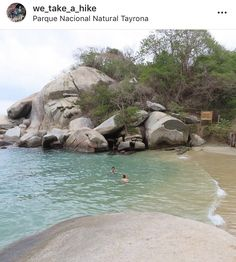 Tayrona National Park, Columbia, National Parks, Around The Worlds, Hiking, Water, Outdoor, Walks, Gripe Water
