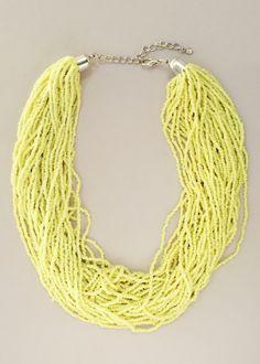 La Mer Neon Beaded Necklace – Pree Brulee