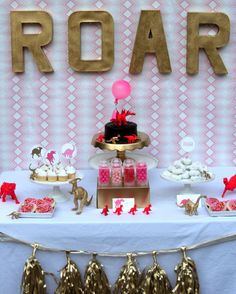 One Charming Party | Birthday Party Ideas › girly dinosaur party: easy store bought menu
