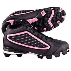 4c12823109d ACACIA Womens Pink Diamond-Mid Softball Cleats BLACK PINK 6.5A SEE SIZING  NOTES Acacia Sports.  25.59