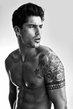 1000 images about single and multiple male model pose for Tattooed single men