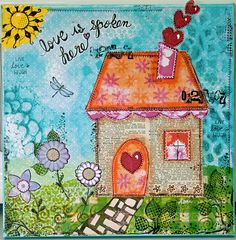 Original hand painted 12 X 12 Canvas Collage by SharedInspiration, $45.00
