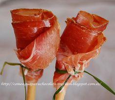 ROSAS DE JAMON. - Tvcocina . Videos . Recetas de Cocina . Vinos y Restaurantes