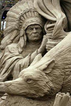Native American Sand Sculpture