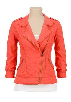 Aurora lightweight asymmetrical zip jacket (original price, $44) available at #Maurices