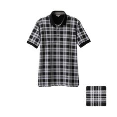 MEN Dry Pique Printed Short Sleeve Polo Shirt A