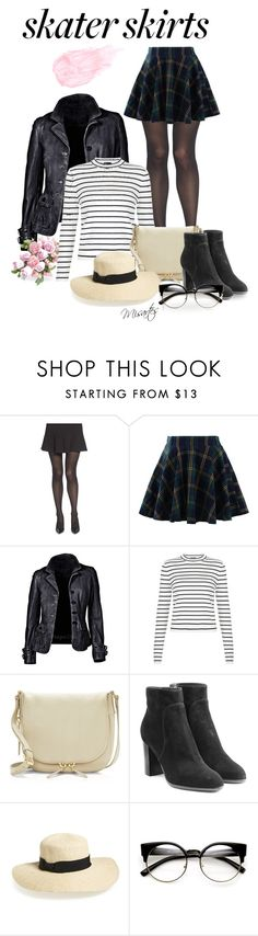 """""""Kingston upon Thames"""" by misartes ❤ liked on Polyvore featuring Chelsea28, Chicwish, New Look, Vince Camuto, Sergio Rossi, San Diego Hat Co., Kevyn Aucoin and skaterSkirts"""