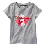 With a red and white maple leaf and fun slogan, your Canadian girl will love wearing this tee with pride. Pairs perfectly with her favourite shorts, skirts and pants for easy, everyday looks.