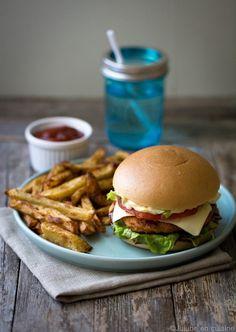 Veggie Burger sans gluten (lentilles corail, chou-fleur, poivron) | Jujube en cuisine