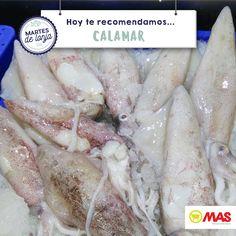 ¡Ya están nuestras pescaderías a tope! Hoy te recomendamos los calamares frescos de nuestra lonja ;)