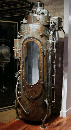 Steampunk furniture design ideas from cool to crazy. What do you think of Steampunk? What comes to mind is probably a cosplay girl in a leather corset and a circular skirt. The Steampunk furniture concep. Casa Steampunk, Style Steampunk, Steampunk Design, Steampunk Fashion, Steampunk Clothing, Steampunk Cosplay, Gothic Steampunk, Art Nouveau, Cyberpunk