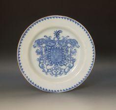 Garry Atkins | Rare armorial Scottish delftware plate with the arms of John Ballie | New York Ceramics & Glass Fair