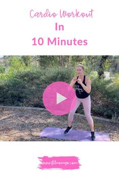 Cardio Workout In 10 Minutes #cardioworkout #10minuteworkout #womensworkout #workoutvideos 10 Minute Cardio Workout, Cardio Workouts, Short Workouts, At Home Workouts, Fitness Tips, Fitness Motivation, Workout Videos, Workout Tips, Natural Remedies For Migraines