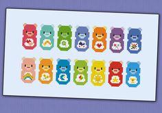 Care Bears parody  PDF cross stich pattern door cloudsfactory, $6.00
