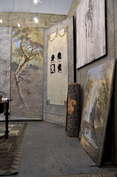 Pascal Amblard booth maison et Objet trade fair 2012 Hand Painted Ornaments, Flooring, Fine Art, Creative, Presentation, Trade Fair, Painting Walls, Murals, Home Decor