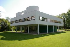 Le Corbusier's Villa Savoie, which appeared in the film French Postcards, 1979.