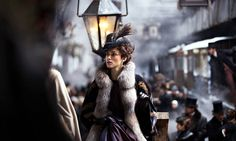 Part of me wants to see this, part of me doesn't -- b/c Anna + trains = bad news..  Keira Knightley in Joe Wright's 'Anna Karenina' - NYTimes.com