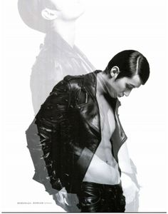 Audacious black leather the perfect Versace look. Men's Uno Malaysia – April '14 #Versace #VersaceEditorials