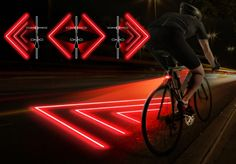 Bike zone make cycling Safe. Features a laser projector indicating safe distance from your bike.