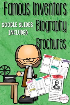This famous inventor biography brochure is a fun way for your students to learn about biographies of inventors. This brochure is an editable template so students can add the pictures and text either on the computer or by hand. Students can share their bro Science Resources, Science Education, Teaching Science, Science Lessons, Teaching Ideas, Teaching History, Classroom Resources, Teaching Resources, Common Core Curriculum