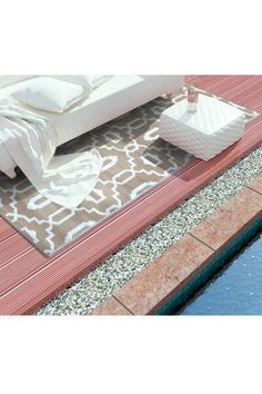 An elegant and versatile rug, the Modern Outdoor/Indoor Reversible Rug is a highly durable attractive addition to your home or garden space. Buy now.