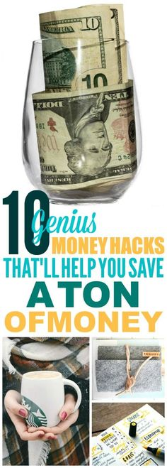 These 10 Genius Money Hacks are THE BEST! I'm so happy I found these GREAT money saving tips! Now I have some great ways to save money, make a budget, and get ahead in my finances! Definitely pinning these money tips! #moneyteam #moneytips #moneyhacks #money