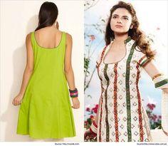 Scoop Salwar Suit Neck Designs