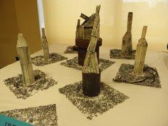 """Indastria"", installation, paperclay, 2014."