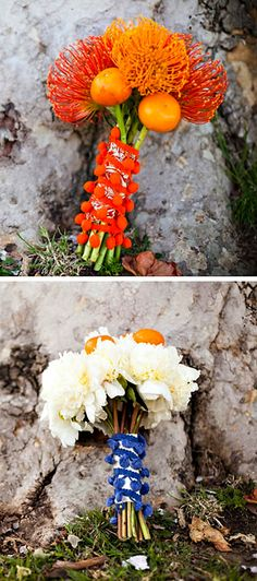wedding bouquet with tangerines