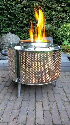 tambour de machine a laver recycler   ... Idée récup: faire un barbecue avec des roues de voitures ou autre