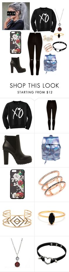 """everyday outfit"" by anmm-1 on Polyvore featuring River Island, Steve Madden, Dolce&Gabbana, EF Collection, Stella & Dot, Bing Bang and New Directions"
