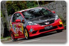 Modifikasi Honda Jazz Merah