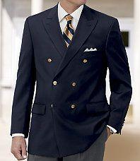 JoS.A.Banks To me =The Classic Men's Blazer! Classic Fashion, Men's Fashion, Fashion Outfits, Fashion Ideas, Modern Gentleman, Gentleman Style, Navy Blazer Men, Gentleman's Wardrobe, Beautiful Suit