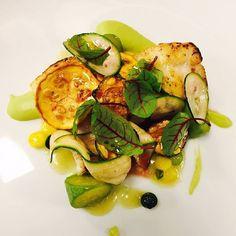 #Turbot with violin zucchini escabeche. Sounds like the perfect choice for #lunch at #IlLago restaurant @fsgeneva #fstaste