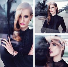 Jessica Chastain Stuns In YSL Fragrance Campaign Pictures