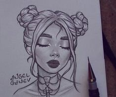 [orginial_title] – art drawing Little portrait sketch~🤓✨ Inspired by Ani S.y… – Little portrait sketch~🤓✨ Inspired by Ani S. Girl Drawing Sketches, Girly Drawings, Portrait Sketches, Art Drawings Sketches Simple, Pencil Art Drawings, Drawing Lips, Pen Sketch, Drawing Ideas, Pencil Sketches Of Girls