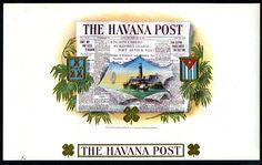 THE HAVANA POST CIGAR LABEL- G. F. HEMLER- NEWSPAPER- GOLD TRIM- LIGHTHOUSE