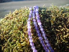 Hand Faceted Round Amethyst Gemstone Strand by Blandsgill on Etsy, £10.00