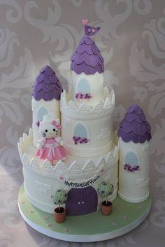 Hello Kitty Castle Cake.