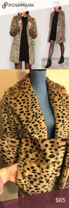Hot & Delicious Gypsy Warrior Cheetah Print Coat Worn less than a handful of times, in great condition.  Lining on right arm hole has a small tear (shown in photo)  cannot be seen while wearing Size Large but is a slimmer fit, doesn't look sloppy on someone with a small frame  Bought on Gypsy Warrior website Hot & Delicious Jackets & Coats