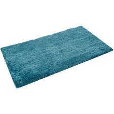 Linea Plush tufted bath mat in cerulean ($38) ❤ liked on Polyvore