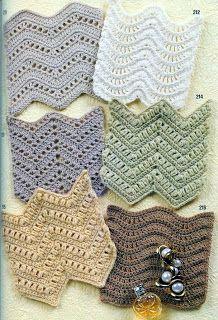 louca por linhas - crochet e patchwork: Variações do ripple stitch