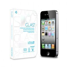 Protector Pantalla iPhone 4-4S Spigen SGP Cristal Templado Oleophobic Glas T