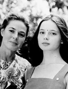 Ingrid Bergman with her daughter Isabella Rossellini