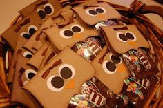 Adorable little owls and M&Ms.  Hoot, hoot, hooray for....or Owl always be your friend or.....