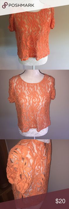 Lace see through top boho festival Very cute and in style INC International Concepts Tops