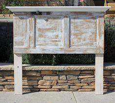 Repurposed Wood Door Headboard With Crown and by FooFooLaLaChild & Repurposed Wood Door Headboard and Footboard By Foo Foo La La | Door ...