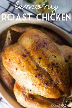 EASY Lemony Roast Chicken - Total Noms www.totalnoms.com
