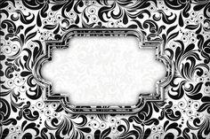 Lindo kit completo para festa de adultos ou 15 anos arabesco preto e branco!